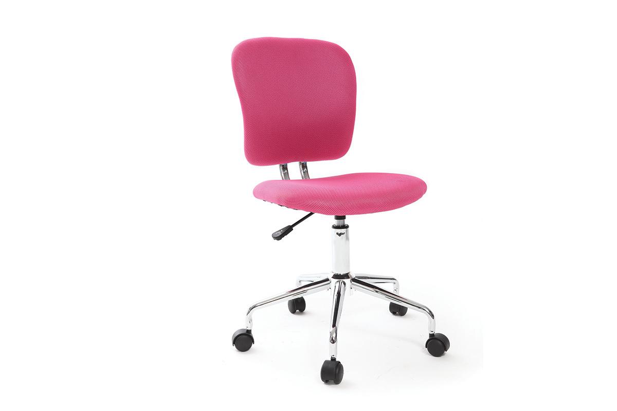 fauteuil de bureau enfant rose mael miliboo. Black Bedroom Furniture Sets. Home Design Ideas