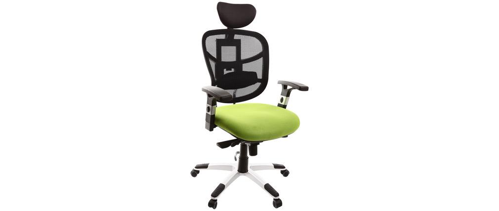 Fauteuil de bureau ergonomique anis et noir UP TO YOU