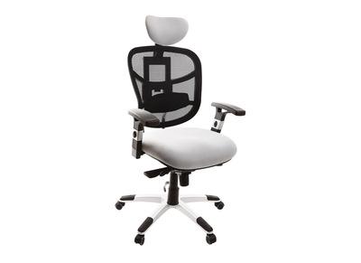 Fauteuil de bureau ergonomique blanc et noir UP TO YOU