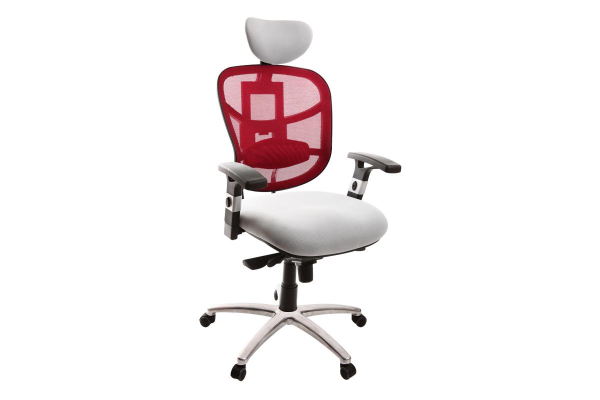 Fauteuil de bureau ergonomique bordeaux et blanc UP TO YOU
