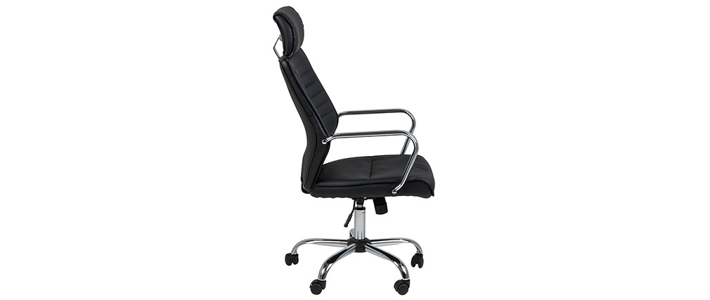 Fauteuil de bureau ergonomique design noir STAN