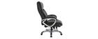 Fauteuil de bureau ergonomique et design noir MAGIST