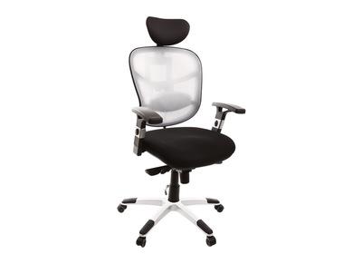 Fauteuil de bureau ergonomique noir et blanc UP TO YOU