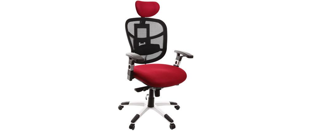 Fauteuil de bureau ergonomique noir et bordeaux UP TO YOU