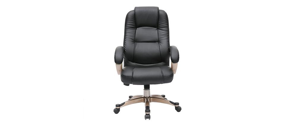 Fauteuil de bureau ergonomique noir TORONTO
