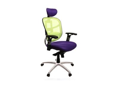 Fauteuil de bureau ergonomique violet et anis UP TO YOU