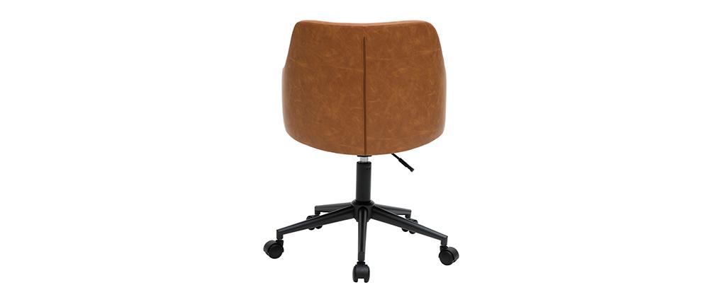 Fauteuil de bureau moderne marron HEMMY