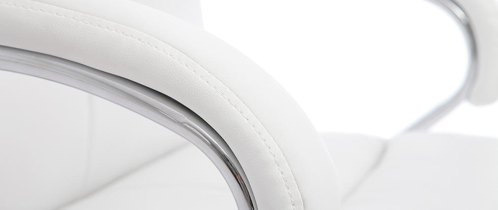 Fauteuil de bureau pivotant design blanc TOWER