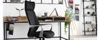 Fauteuil de bureau pivotant noir et gris POCUS