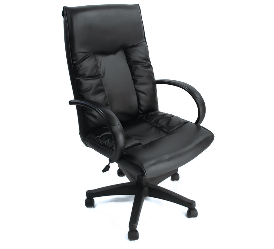 fauteuil de bureau raphaello noir miliboo. Black Bedroom Furniture Sets. Home Design Ideas
