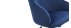 Fauteuil de bureau velours bleu nuit SCARLETT