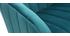 Fauteuil de bureau velours bleu pétrole ROMI
