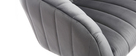 Fauteuil de bureau velours gris foncé ROMI