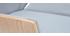 Fauteuil de direction design tissu gris et bois clair CURVED