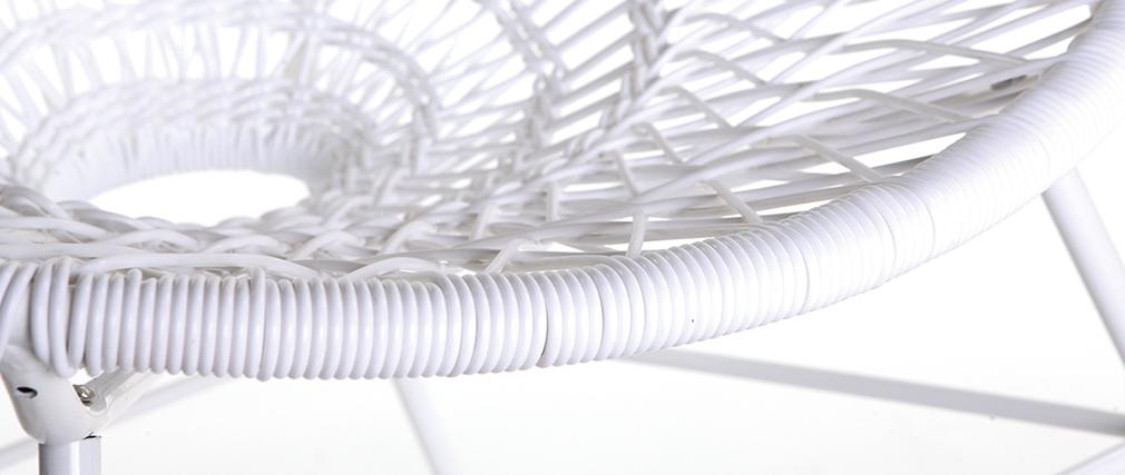 Fauteuil de jardin design en fils de résine blanc ARANGO