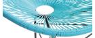Fauteuil de jardin en fils de résine turquoise BELLAVISTA