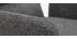 Fauteuil de table moderne en tissu gris et métal noir MYST