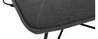 Fauteuil design avec repose pied tissu gris foncé PHILO