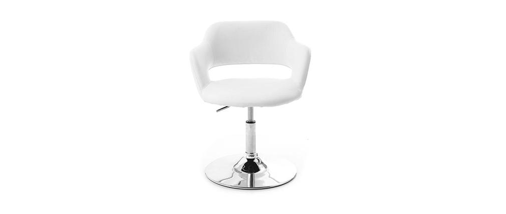 Fauteuil design blanc JESSY