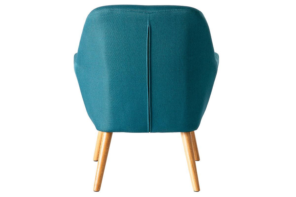 fauteuil design bleu p trole mira miliboo. Black Bedroom Furniture Sets. Home Design Ideas