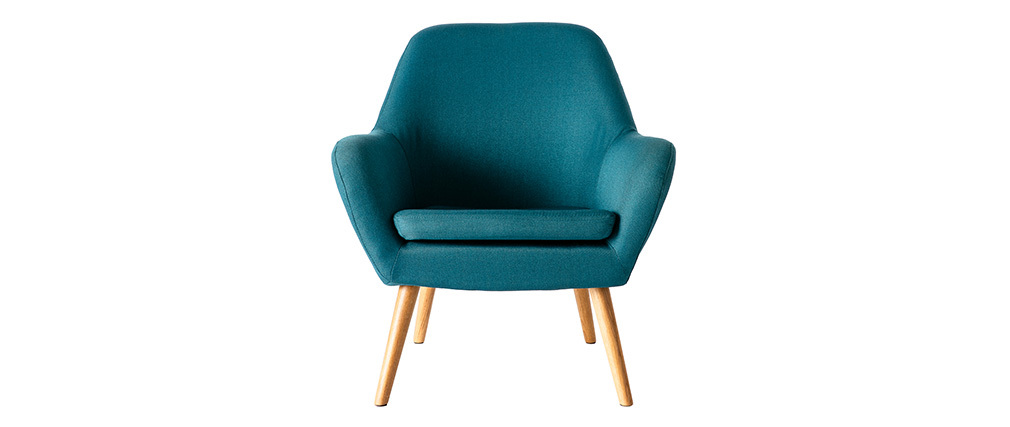 Fauteuil design bleu pétrole MIRA