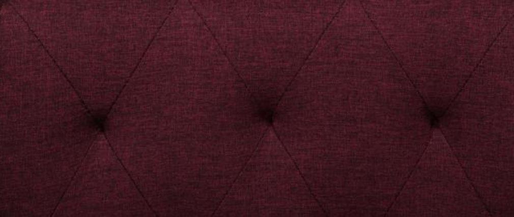 Fauteuil design capitonné prune MARCEAU