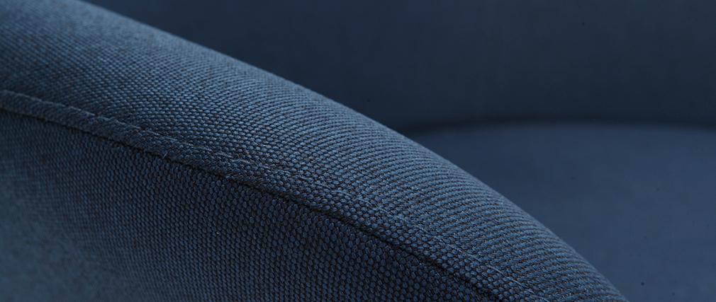 Fauteuil design contemporain bleu OSWALD