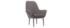 Fauteuil design contemporain gris OSWALD