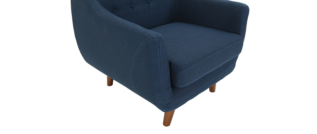 Fauteuil design déhoussable bleu YNOK