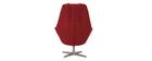 Fauteuil design en tissu rouge et pied métal AMADEO