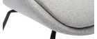 Fauteuil design en tissu texturé gris clair GILLY