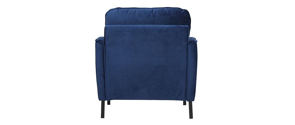 Fauteuil design en velours bleu BEKA