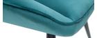 Fauteuil design en velours bleu pétrole BILLIE