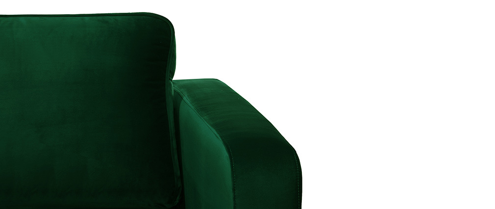 Fauteuil design en velours vert opale HARRY