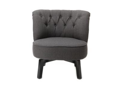 Fauteuil design gris AURELE