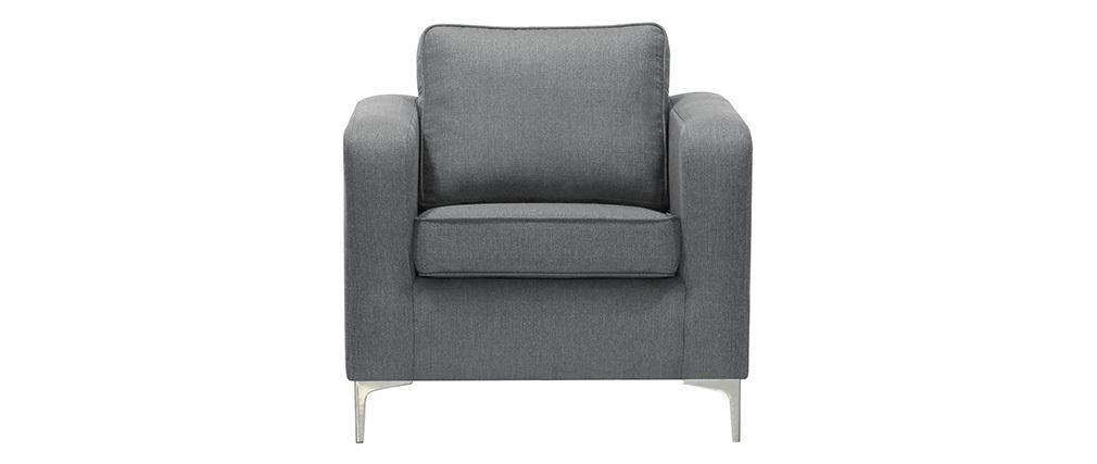 Fauteuil design gris clair HARRY
