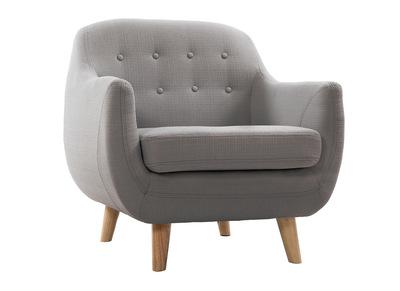 Fauteuil design gris clair YNOK