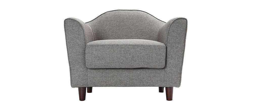 Fauteuil design gris SOVHA