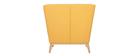 Fauteuil design jaune pieds en bois MARKUS