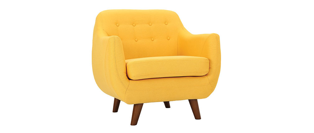 Fauteuil design jaune ynok miliboo - Fauteuil jaune design ...