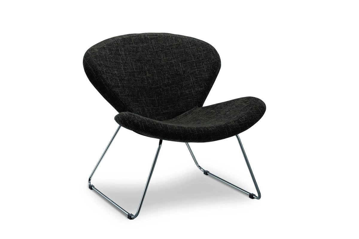 Fauteuil design noir CLOE