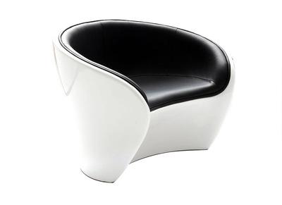 Fauteuil design noir et blanc JAROD