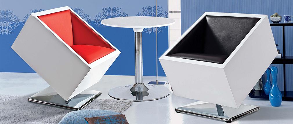 Fauteuil design noir et blanc SQUARE BOX