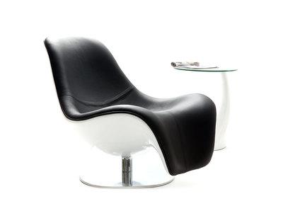 Fauteuil design noir pivotant KILYE