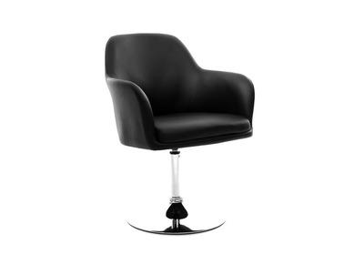 Fauteuil design noir TORY