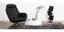Fauteuil design pivotant noir HAVEN