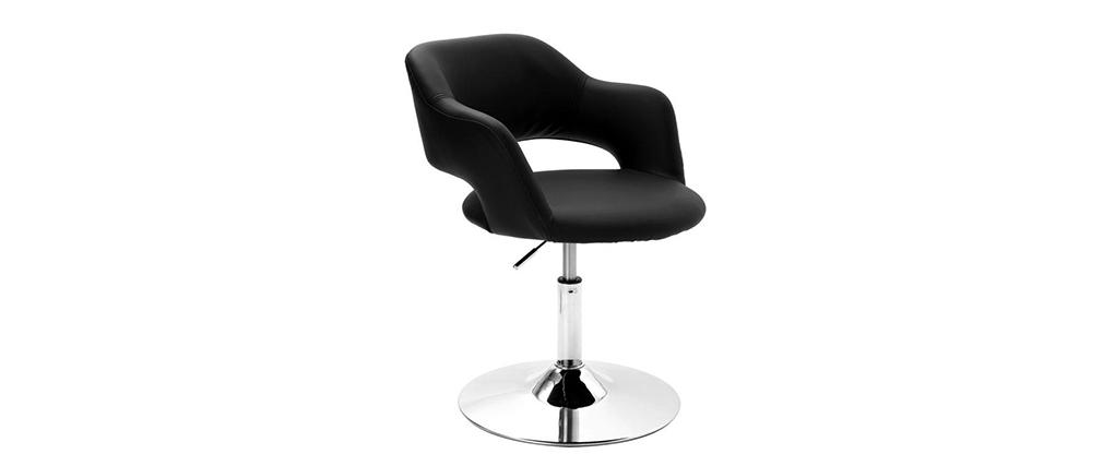 Fauteuil design pivotant noir JESSY