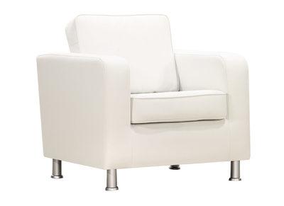 Fauteuil design PU blanc LLOYD
