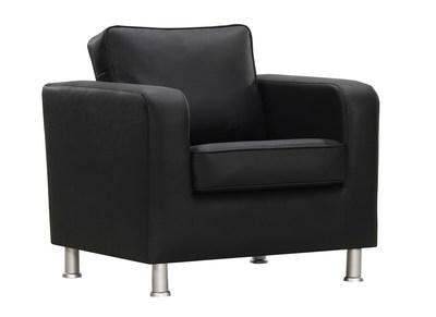 Fauteuil design PU noir LLOYD