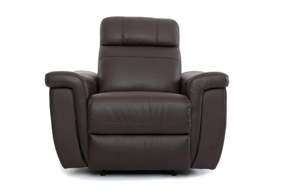Fauteuil design relax en cuir marron rockford miliboo - Fauteuil design relax ...